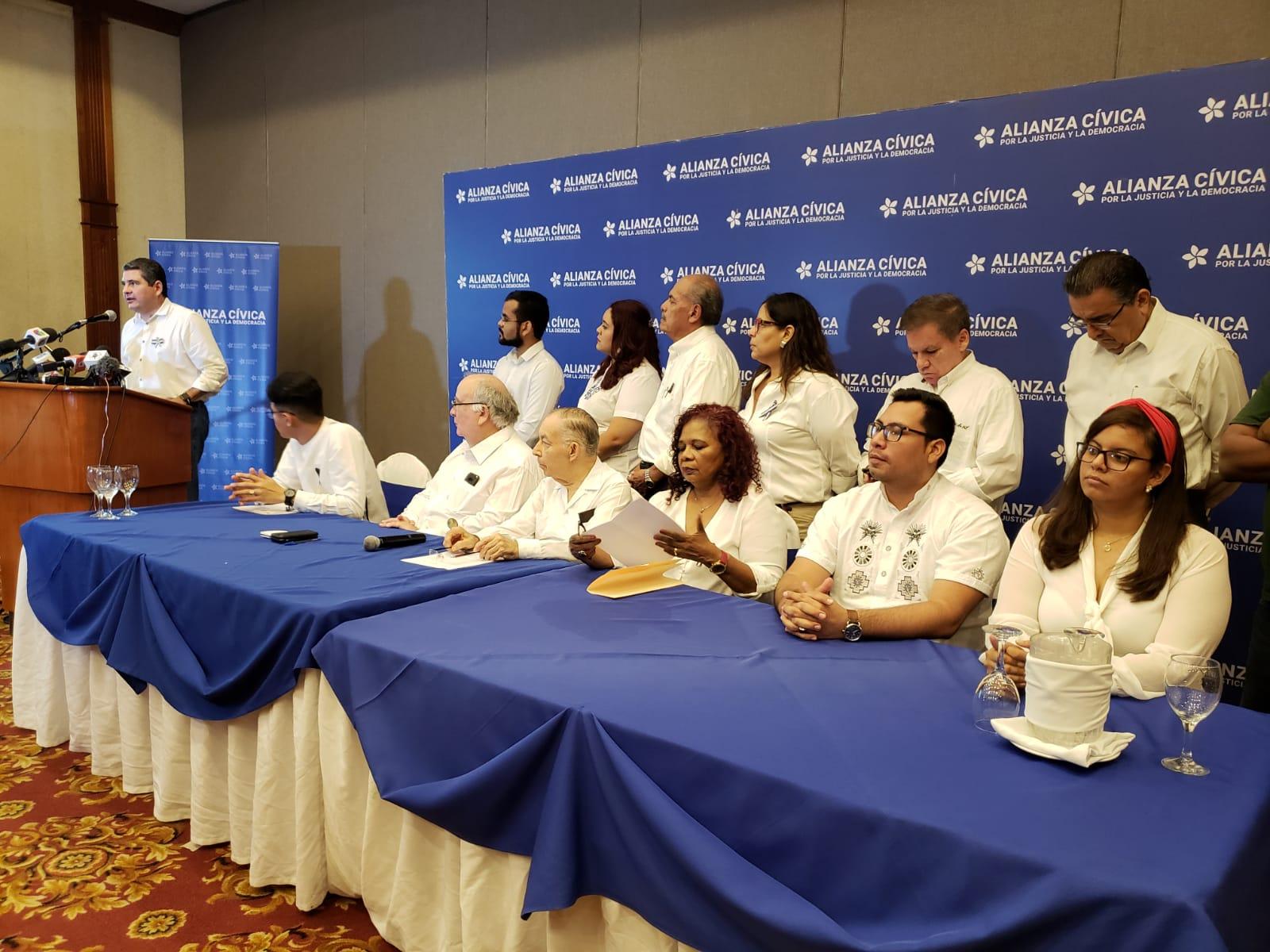 Alianza Cívica designa a su «nueva» junta directiva, pero reelige a la mayoría de sus miembros. Foto: Geovanny Shifman/ Artículo 66
