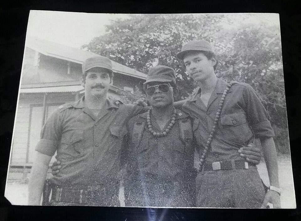 En esta foto Luis Torres cuando perteneció al Ejército de Nicaragua. Foto: Cortesía