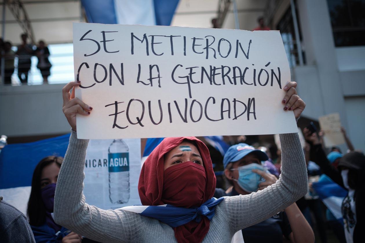 UNA sanciona quitando becas a estudiantes que protestaron por fraude de UNEN. Foto ilustrativa