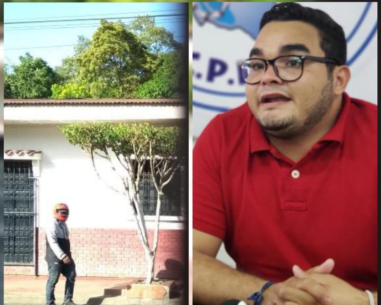 Exreo político Bayron Estrada identifica a paramilitares que dirigen asedio a su vivienda en León
