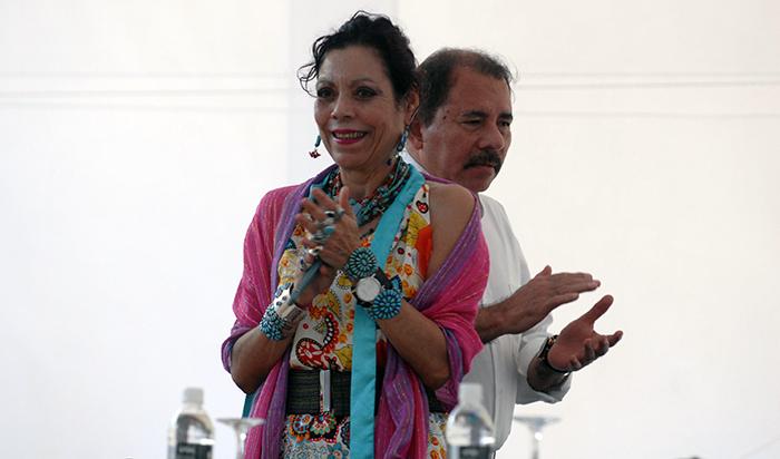 Rosario Murillo y Daniel Ortega. Foto: La Prensa