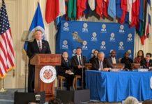 Secretario Mike Pompeo critica fuertemente a los regímenes de Nicaragua, Cuba y Venezuela. Foto: VOA