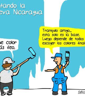 """La Caricatura: """"Pintando la nueva Nicaragua"""""""