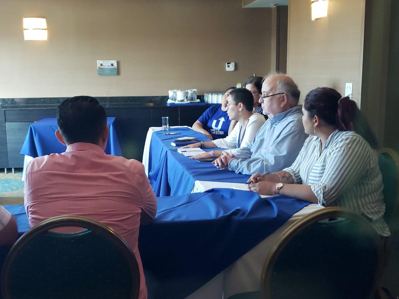 """Primera reunión entre la Alianza Cívica y UNAB con el PLC, de cara a la """"unidad"""". Foto: Geovanny Shiffman/ Artículo 66"""