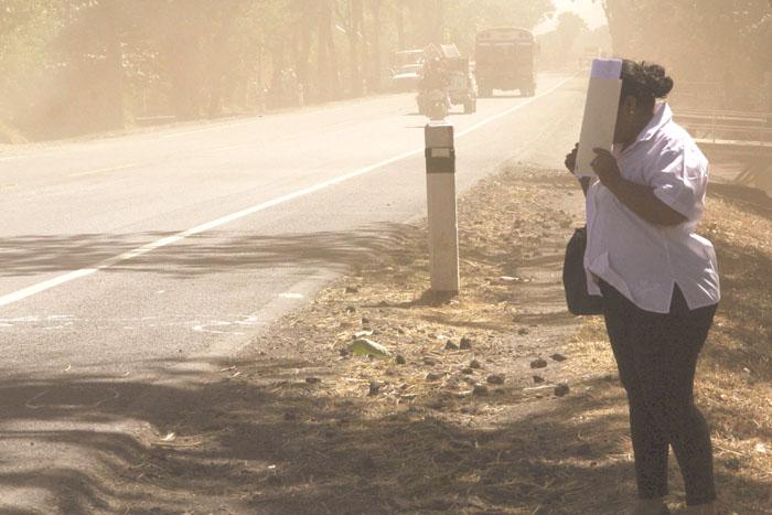 Occidente de Nicaragua en emergencia por tolvaneras que ponen en riesgo la salud. Foto: La Prensa