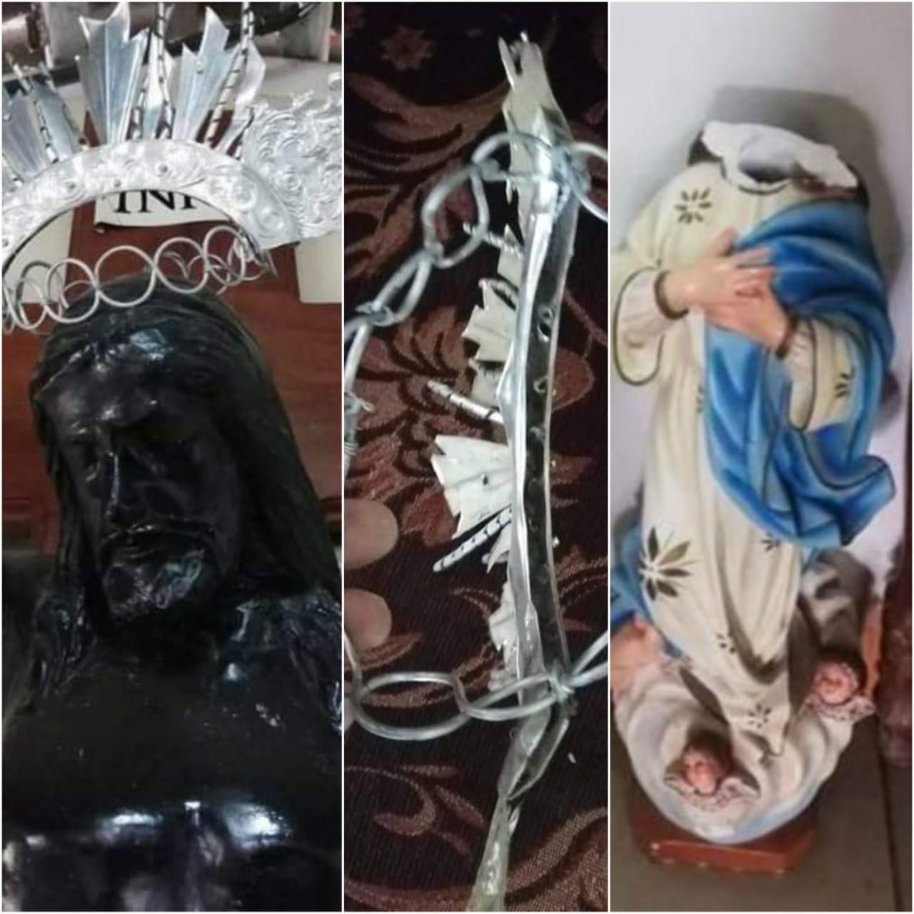 Fanáticos orteguistas irrumpen la capilla Nuestro Señor de Esquipulas para robar y destruir imágenes religiosas