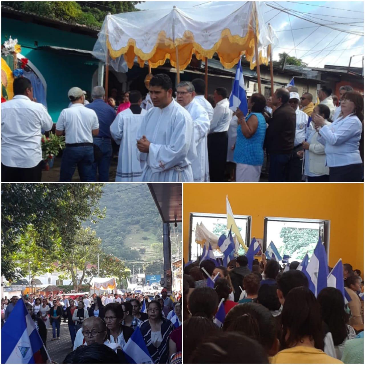 Fotografías de la procesión del 1 de enero, en Jinotega. Foto: Artículo 66