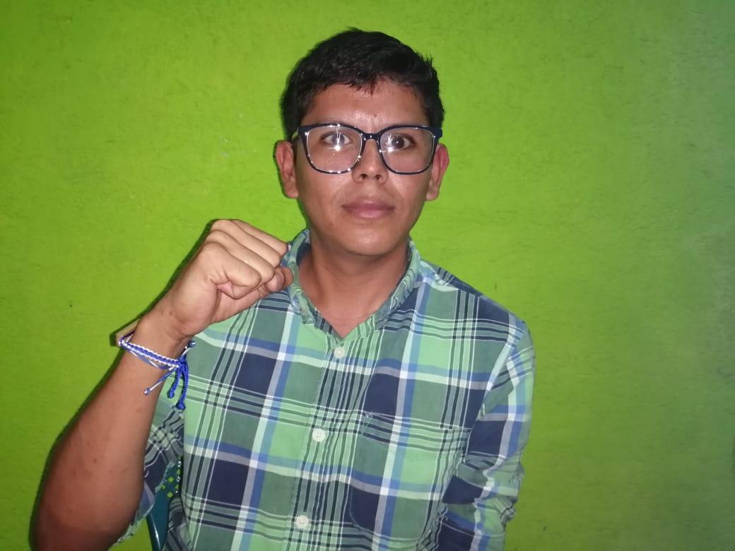 Ulises Rivas, de 21 años, originario de Rivas. Foto: Noel Miranda / Artículo 66