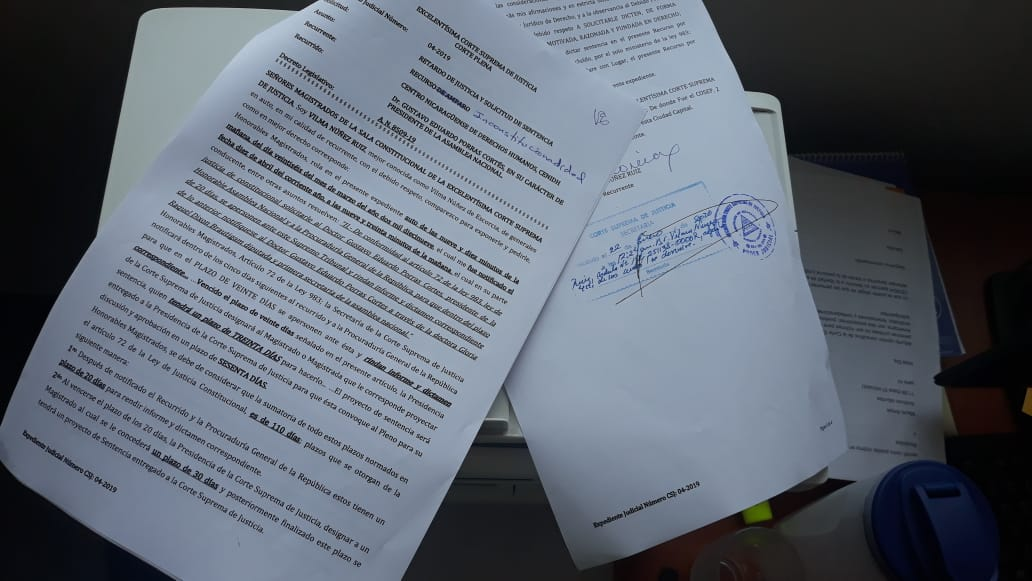 Escritos de impulso procesal interpuesto en la CSJ. Foto: Cortesía / Artículo 66