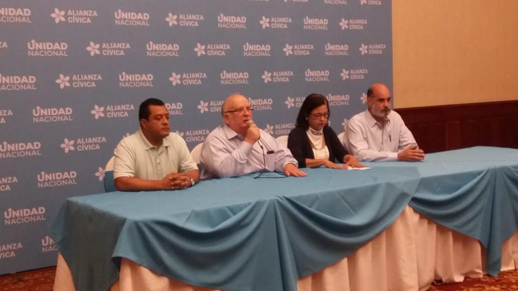 Alianza Cívica y la UNAB apuestan por reforma electoral «incluyente». Foto: María Gómez / Artículo 66