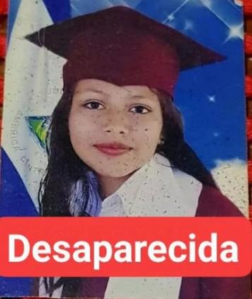 Gimena Molina Aburto, de 13 años, cumple cinco días desaparecida. Foto: Cortesía