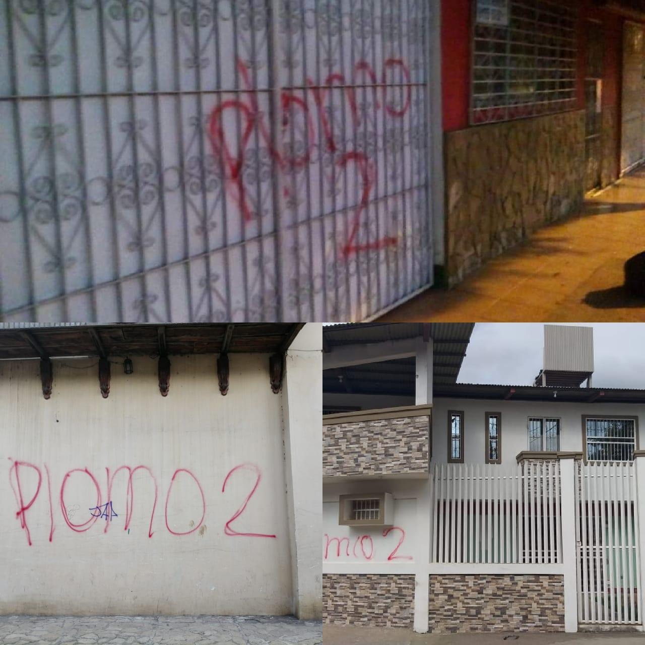 Marcan casas de opositores al régimen de Daniel Ortega en la ciudad de Masaya