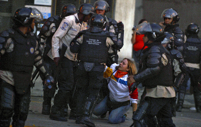 Represión en Venezuela. Foto: Tomada de Internet
