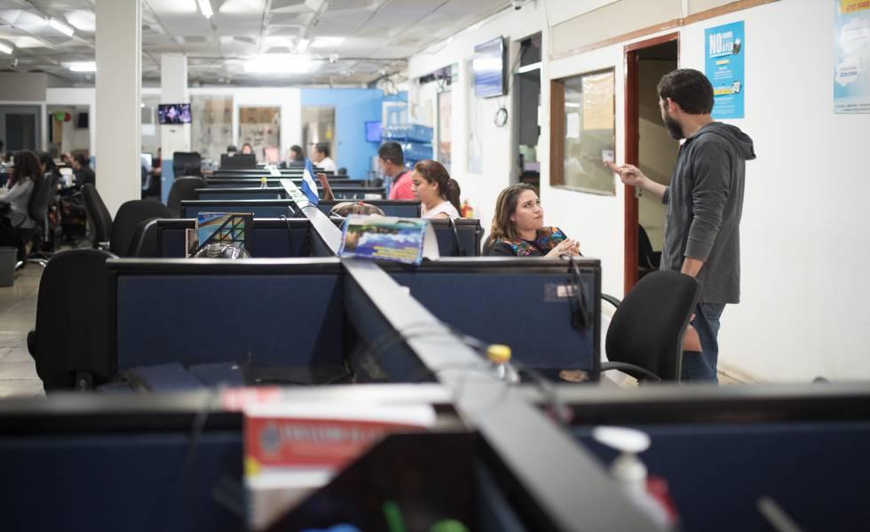 Redacción central del diario La Prensa. Foto: Cortesía