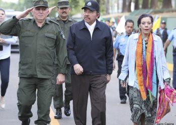 Ejército de Nicaragua y  los dictadores. Foto: 19 Digital.