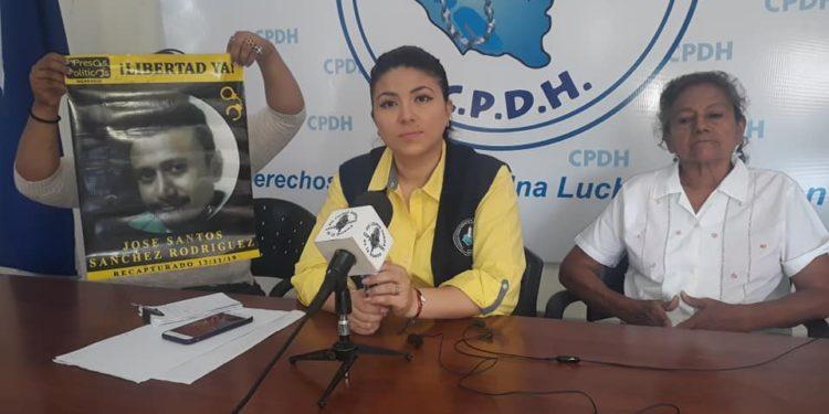 CPDH y familiares de José Santos Sánchez exigen aatención médica para el reo político. Foto: CPDH.