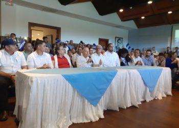 «Sólo unidos todos y poniendo a Nicaragua de primero vamos a derrotar a la dictadura», aseguran representantes de la Coalición Nacional. Foto: Confidencial / Carlos Herrera