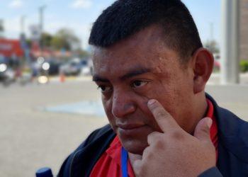 Policía agrede a periodista de Artículo 66 y Nicaragua Investiga. Foto: Álvaro Navarro / Artículo 66
