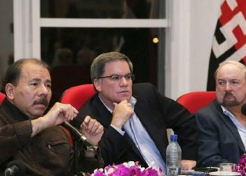 Daniel Ortega y el gran capital de Nicaragua.Foto: Tomada de internet.