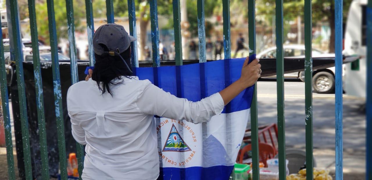 La demanda de los universitarios en su primer día de clases: «Libertad para los presos políticos». Foto: G. Shiffman / Artículo 66