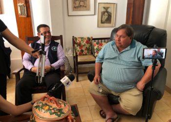 CPDH constata cerco policial en la vivienda del comentarista Jaime Arellano. Foto: Donaldo Hernández/VOA