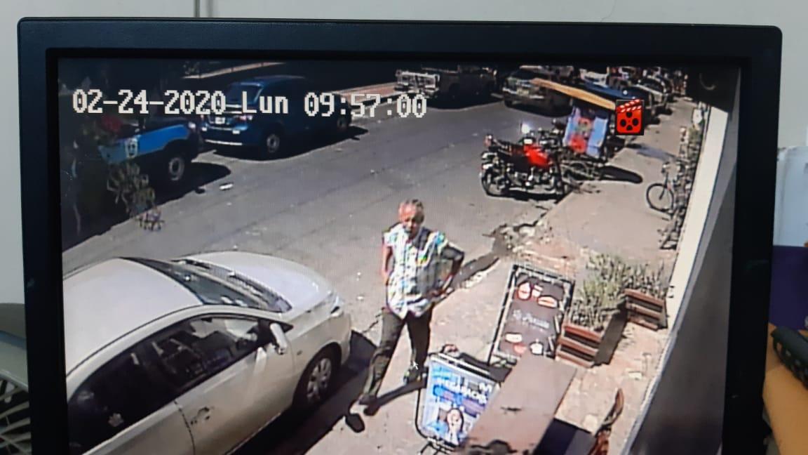 Captura de pantalla de la cámara de seguridad de José Pallais. Foto: Cortesía