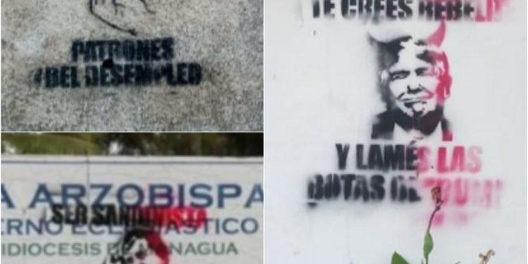 Fanáticos orteguistas inician campaña hostigamiento a opositores, empresarios y templos religiosos