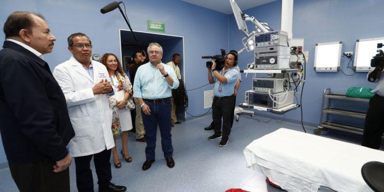 ¿Daniel Ortega supervisa hospitales para enfrentar el Coronavirus?