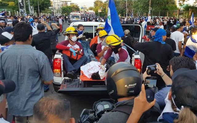 Oficiales de la Policía y grupos paramilitares al servicio de la dictadura Ortega Murillo son acusados de asesinar a más de 325 nicaragüenses. Foto: Cortesía