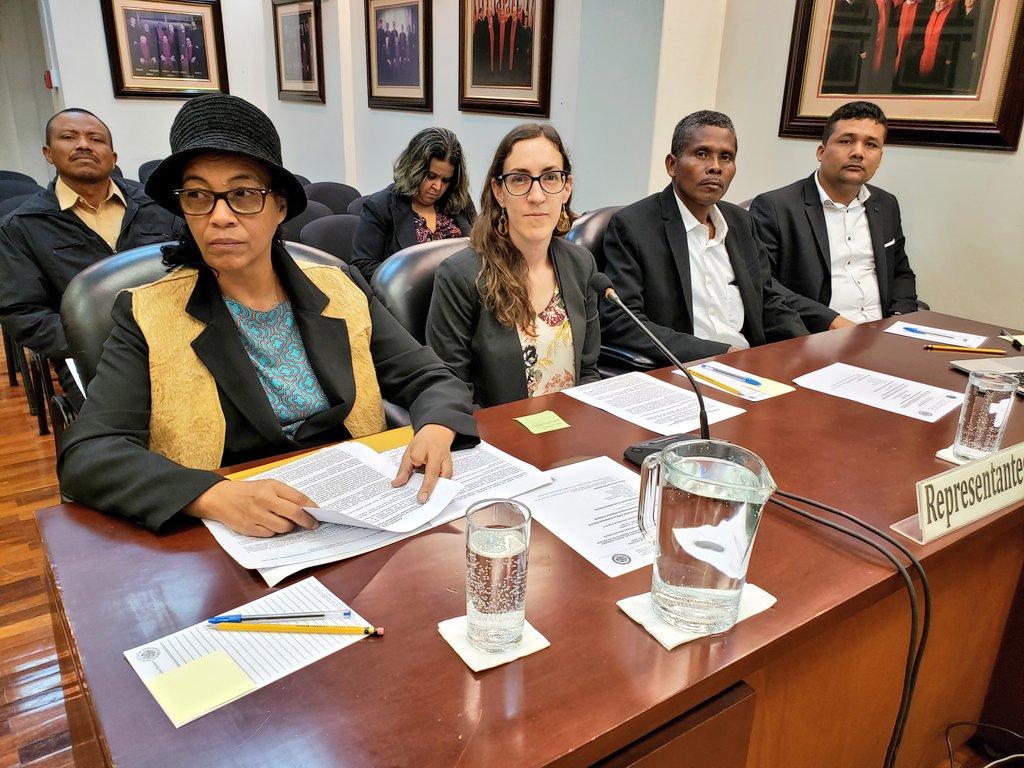 Representantes de los beneficiarios ante la Corte IDH. Foto: Cortesía