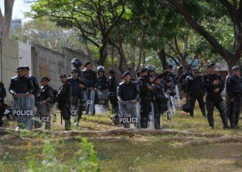 Pensiones de los oficiales de la Policía sancionada están en «peligro». Foto: La Prensa