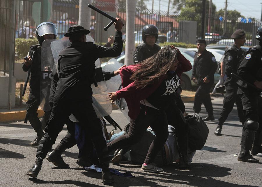 El brazo represor del régimen ha dirigido ataques y represión contra los nicaragüenses autoconvocados. Foto: Tomado de Internet