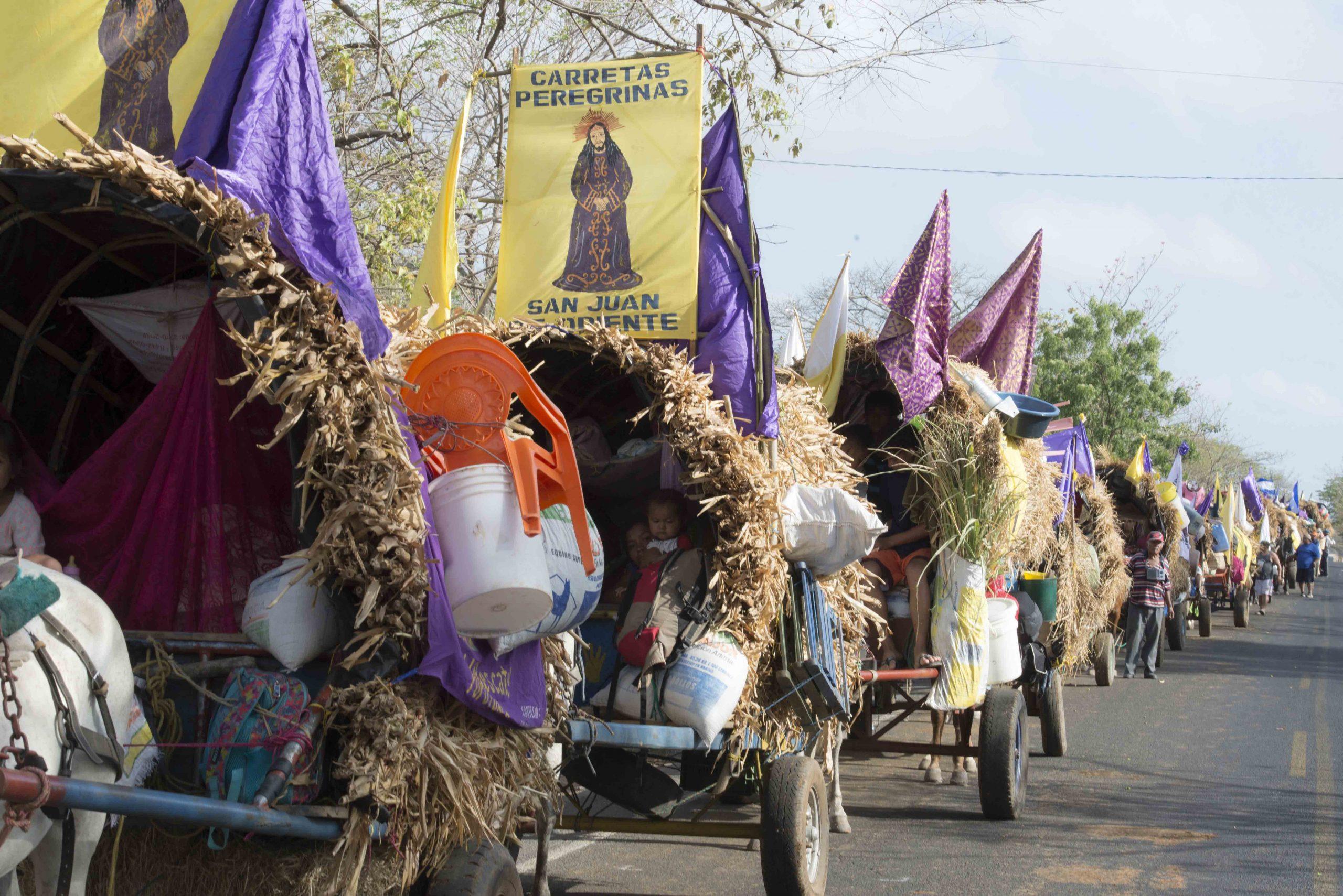 Peregrinación de las Carretas Peregrinas hacia el Santuario Nacional de Jesús del Rescate. Foto: Archivo/La Prensa