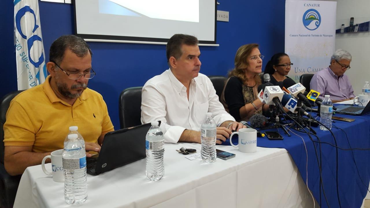 Miembros de la Junta Directiva de CANATUR. Foto: Nicaragua Investiga
