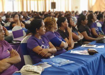 Trabajadoras de zonas francas llaman al Cosep a que se esfuerce en mejorarle las condiciones laborales. Foto: Álvaro Navarro / Artículo 66