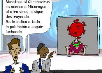 La Caricatura: El coronavirus se acerca a Nicaragua