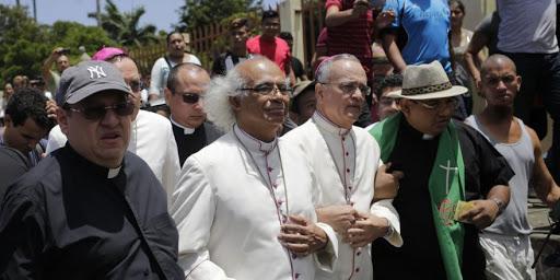Ataque a obispos católicos en Diriamba. Julio 2018. Foto/Archivo: Religión Digital