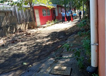 Policía orteguista mantiene asedio en vivienda del exreo político William Balmaceda. Foto: Cortesía