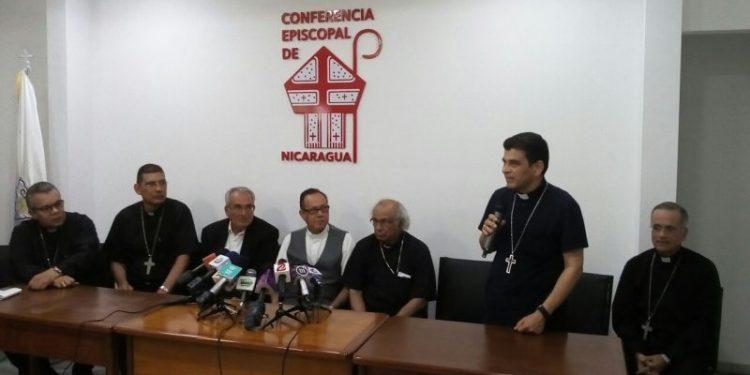 Obispos de Nicaragua, en la sede del Episcopado. Foto/Archivo: Israel González/Religión Digital