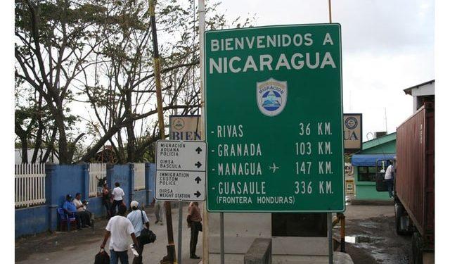 Puesto fronterizo de Peñas Blancas, sitio donde aseguran que el Ejército capturó a los jóvenes que volvían de Costa Rica. Foto: El Nuevo Diario