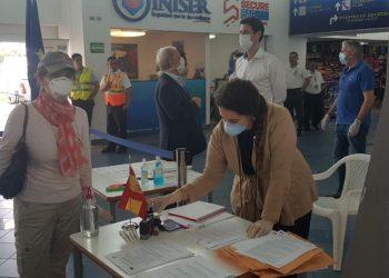Gobierno de Alemania anuncia segundo vuelo de repatriación para que sus ciudadanos abandonen Nicaragua por COVID-19. Foto: Cortesía/ Embajada de España