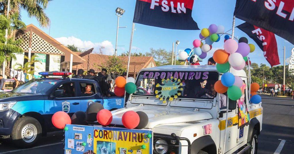 Dictadura de Ortega realizó 150 actividades masivas en medio del repunte de COVID-19. Foto: Inti Ocón / AFP