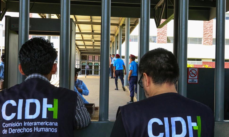 Una delegación de la CIDH durante las visitas del organismo a Nicaragua por la crisis de abril de 2018. Foto: END.
