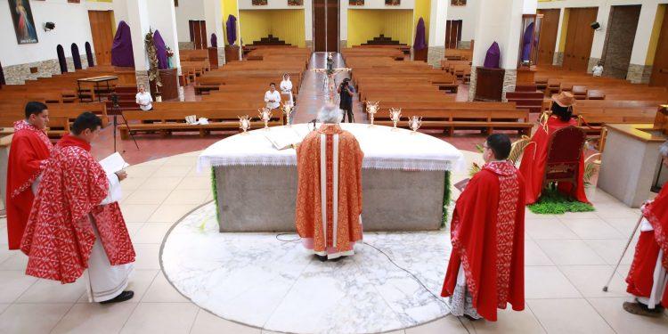 Catedrales vacías y misas por televisión: Así inició la Semana Santa en Nicaragua: Foto: Arquidiócesis de Managua