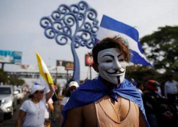 Anonymous se adjudica ataque cibernético a páginas del Gobierno de Nicaragua. Foto: EFE