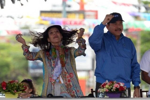 Rosario Murillo junto al presidente de Nicaragua, Daniel Ortega. Foto: Cortesía