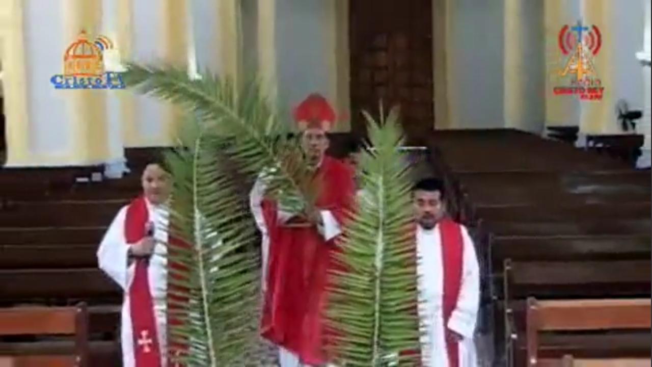 Monseñor Jorge Solórzano, de la Diócesis de Granada. Foto/Reproducción: Cristo TV 48