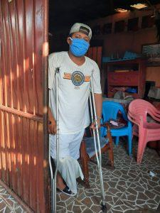 Isaac Hernández, de 18 años, lisiado producto de la represión. Foto: Artículo 66