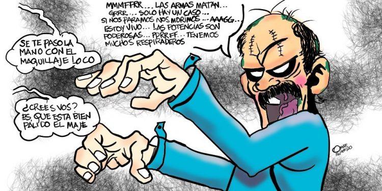 La Caricatura: «La reaparición del dictador». Cortesía Omar