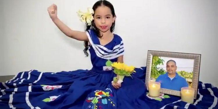 «Hace dos años la Policía mató a mi papá», las palabras de la hija del periodista Ángel Gahona, asesinado en el 2018. Foto: Captura de pantalla